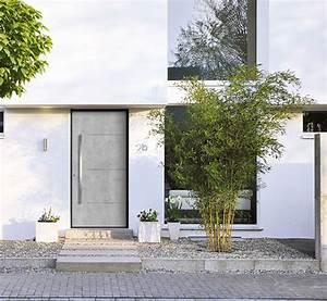 porte dentree beton decorer sa maisonfr With porte d entrée alu avec revetement salle de bain mural