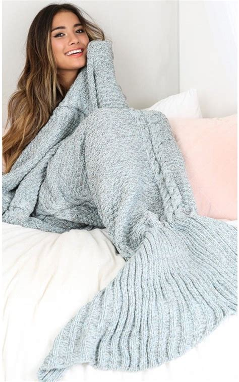 mermaid blanket grey mermaid blanket in blue marle showpo fashion