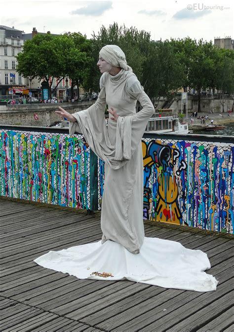 Photos Of Human Statue On The Pont Des Arts In Paris