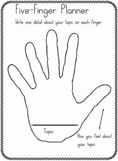 Finger Five Writing Planner Workshop Times Main