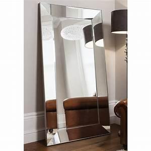Leaner, Mirror, Vasto, Mirrored, Frame, Mirror, Silver