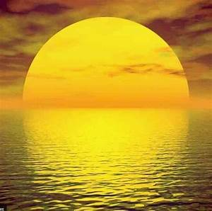 The yellow sun sets on another day. Heres hoping for ...