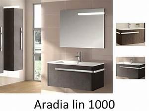 Meuble 100 Cm : meubles lave mains robinetteries meuble sdb meuble de salle de bain suspendu 100 cm aradia ~ Teatrodelosmanantiales.com Idées de Décoration
