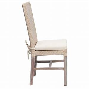 Chaise Rotin Design : chaises en rotin blanche ellen lot de 6 chaises en rotin blanc chaise en osier blanc rotin ~ Teatrodelosmanantiales.com Idées de Décoration