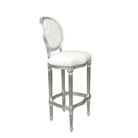 chaises de bar pas cher chaise baroque de bar blanche meuble baroque