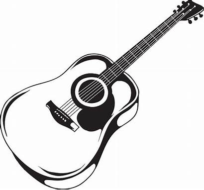 Guitar Acoustic Drawing Clipart Vector Background Classical