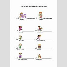 Like + Ing Worksheets