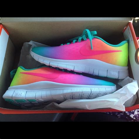 Nike - ⛔️sold⛔️ Nike Free Runs 5.0 rainbow ombré from