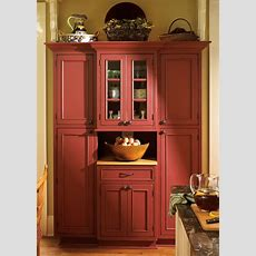 Cranberry Colored Kitchen Cabinets   Kitchen Pantry