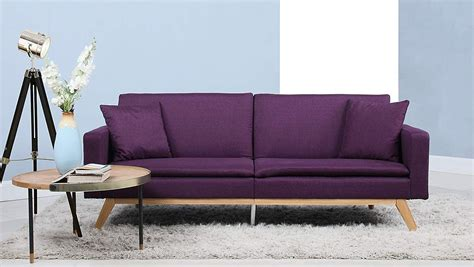 Purple Contemporary Sofa by Modern Plush Tufted Linen Best Prices Purple Sleeper Sofa