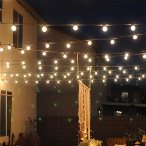 string lights on screen porch cabin