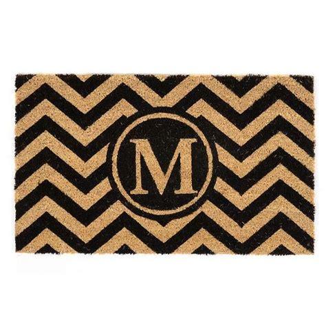 chevron monogram  doormat kirklands monogram door mat
