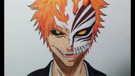 drawing ichigo kurosaki hollow mask youtube