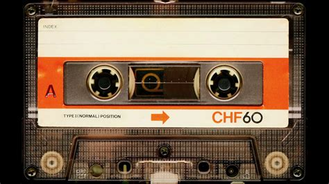 Vintage Cassette by Audio Cassette In Use Sound Recording In The