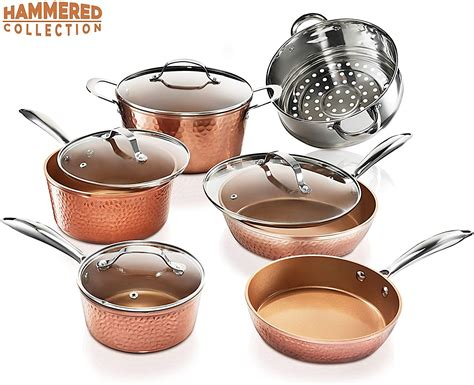 gotham steel pots  pans set premium ceramic cookware  triple coated ultra nonstick