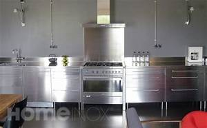 decoration interieure inox With exemple de cuisine de cr dence