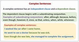 Complex Sentences  Examples  Explanations  Videos