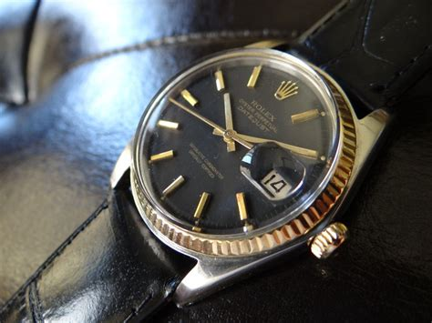 1971 Vintage Rolex Datejust Automatic Men's Watch~original Black Dial~2 Tone For Sale Double S Antiques And Collectibles Calgary Antique French Chandeliers Sydney Confederate Metal Backsplash Tiles Butcher Block Island Table Indian Jewellery Collection Melbourne Value Of Sterling Silverware