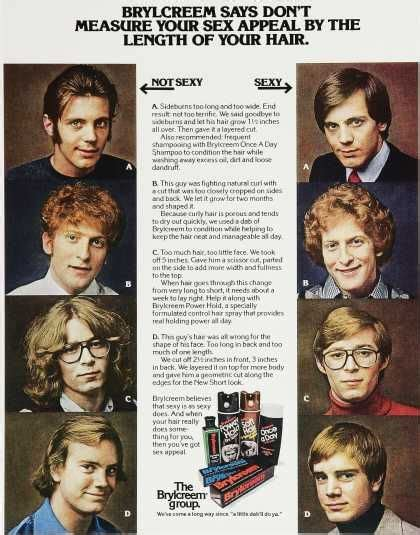 brylcreem group fun ad   sexy  sexy