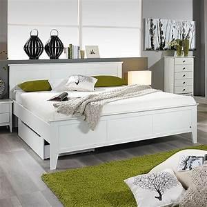 Bettgestell Weiß 160x200 : bett rosenheim schlafzimmerbett bettgestell doppelbett in wei 160x200 ebay ~ Indierocktalk.com Haus und Dekorationen