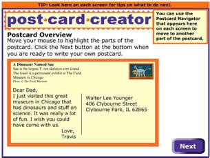 Read Write Think Postcard Template by Postcard Creator Readwritethink