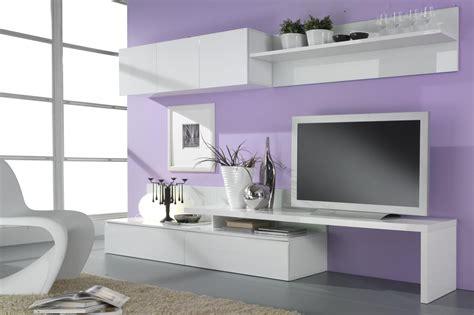 bureau soldé composition tv murale design laquée blanche cannelle