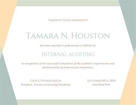 customize  professional certificate templates