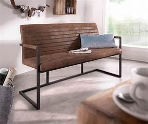 Sitzbank 140 Cm : sitzbank earnest 140 cm braun vintage mit armlehne m bel ~ Watch28wear.com Haus und Dekorationen
