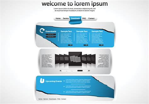 torn paper website psd template  photoshop brushes