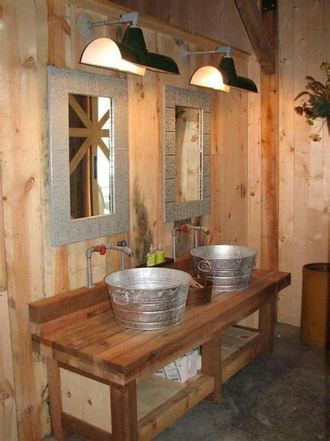 Rustic Cabin Bathrooms by Rustic Bathroom Sink With Galvanized Sinks