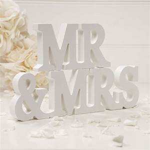 wooden mr mrs letters off white confetticouk With mr mrs wooden letters