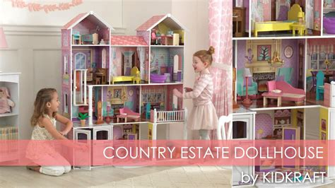 Children's Pink Country Estate Dollhouse For Barbie  Toy