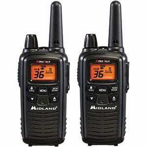 Midland 26-mile 36 Channel 2-way Radios - Black  2-pack -lxt600vp3