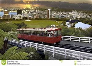 Wellington Cable Car New Zealand Editorial Stock Photo