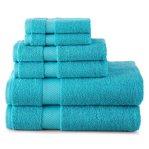 jcpenney home  pc bath towel set jcpenney