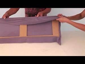 Sandfilteranlage Abdeckung Selber Bauen : akustikstoff auf einen rahmen tackern youtube ~ Orissabook.com Haus und Dekorationen