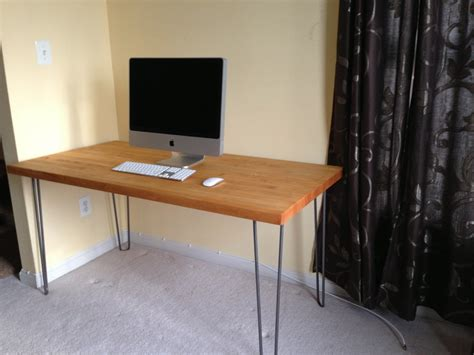 how to make desk legs make your own desk at any height using hairpin table legs
