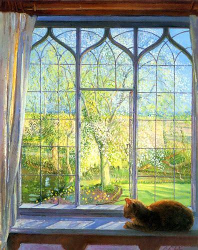 spring window art print  timothy easton king mcgaw