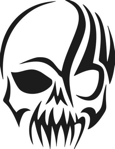 tribal skull head cranium skull stencil skull decal