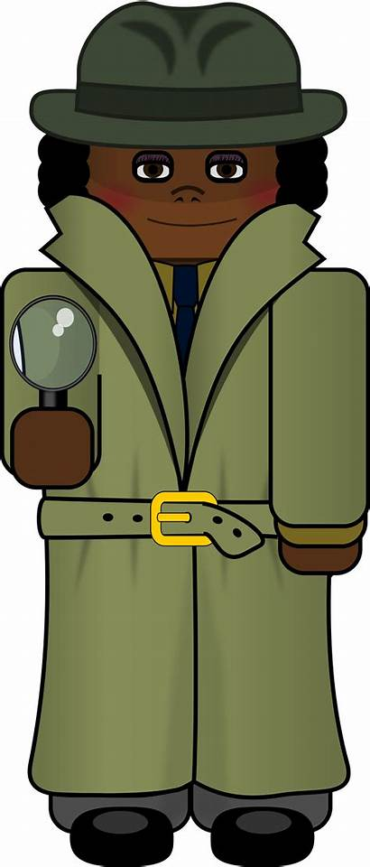 Detective Clipart Cartoon Openclipart Clip Female Animation