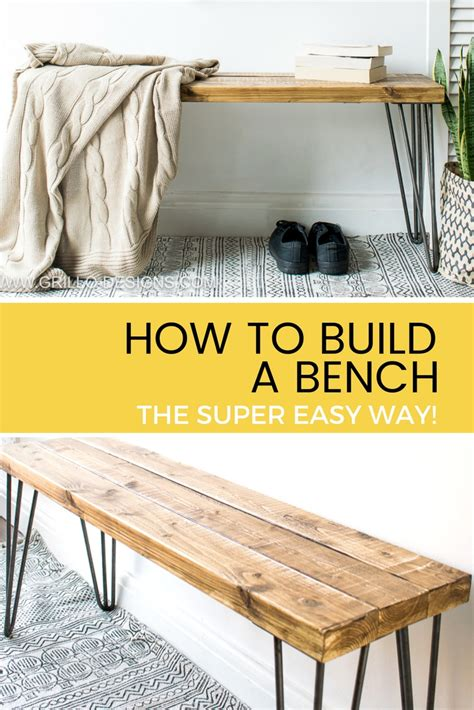 build  bench  super easy  grillo designs