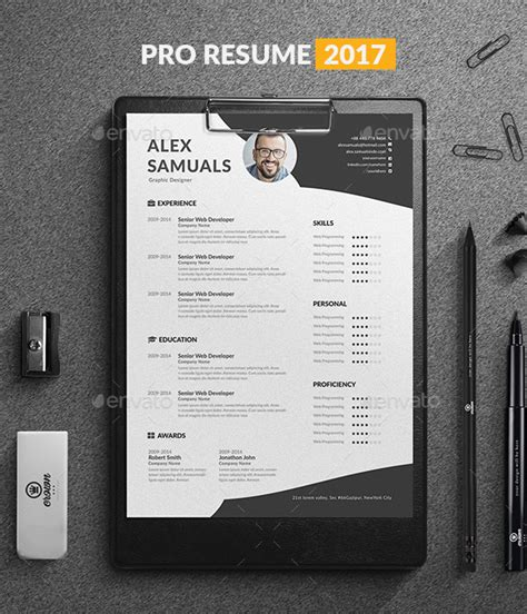 Pro Resume Template by 60 Awesome Resume Cv Templates 2018 Word Indesign Psd