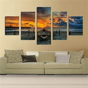 Print art canvas painting unframed 5 piece large hd for Canvas art for living room