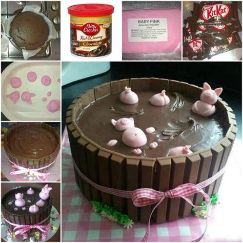 Resepi Aiskrim How To Diy Adorable Happy Pig In Mud Cake