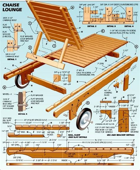 plans diy wood lounge chair plans  diy wood