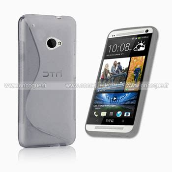 housse htc one m7 coque htc one m7 801e s line silicone gel housse gris