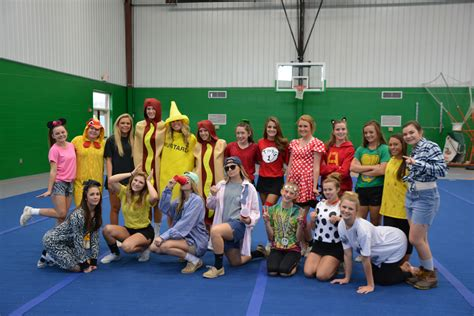 pinewood christian academy pca cheerleaders show halloween spirit