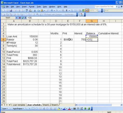 excel amortization excel file loan amortization free programs utilities