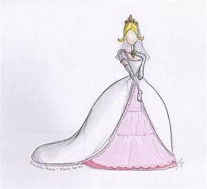 princess peach wedding dress by nhathy on deviantart With princess peach wedding dress