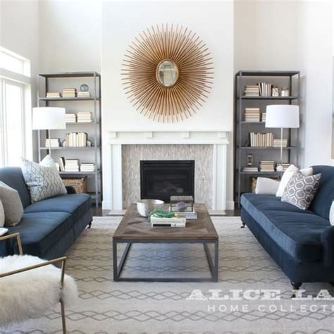 Navy Sofa Living Room by Blue Sofa Trend